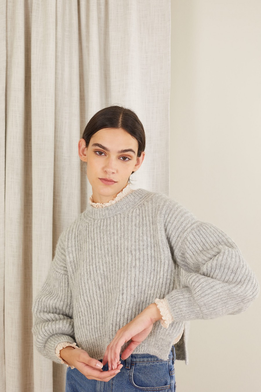 light grey wool sweater