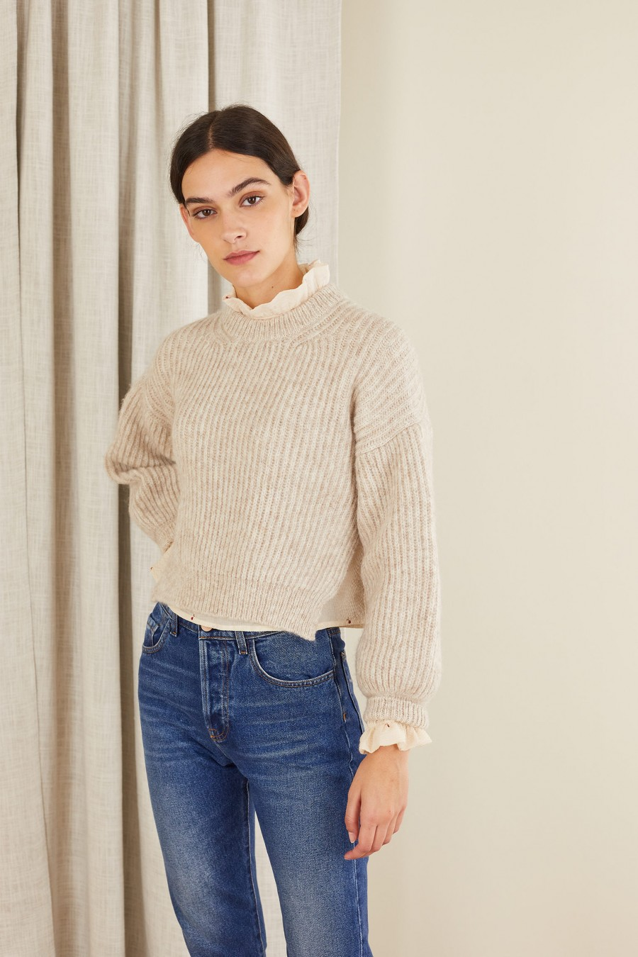 alpaca cropped sweater