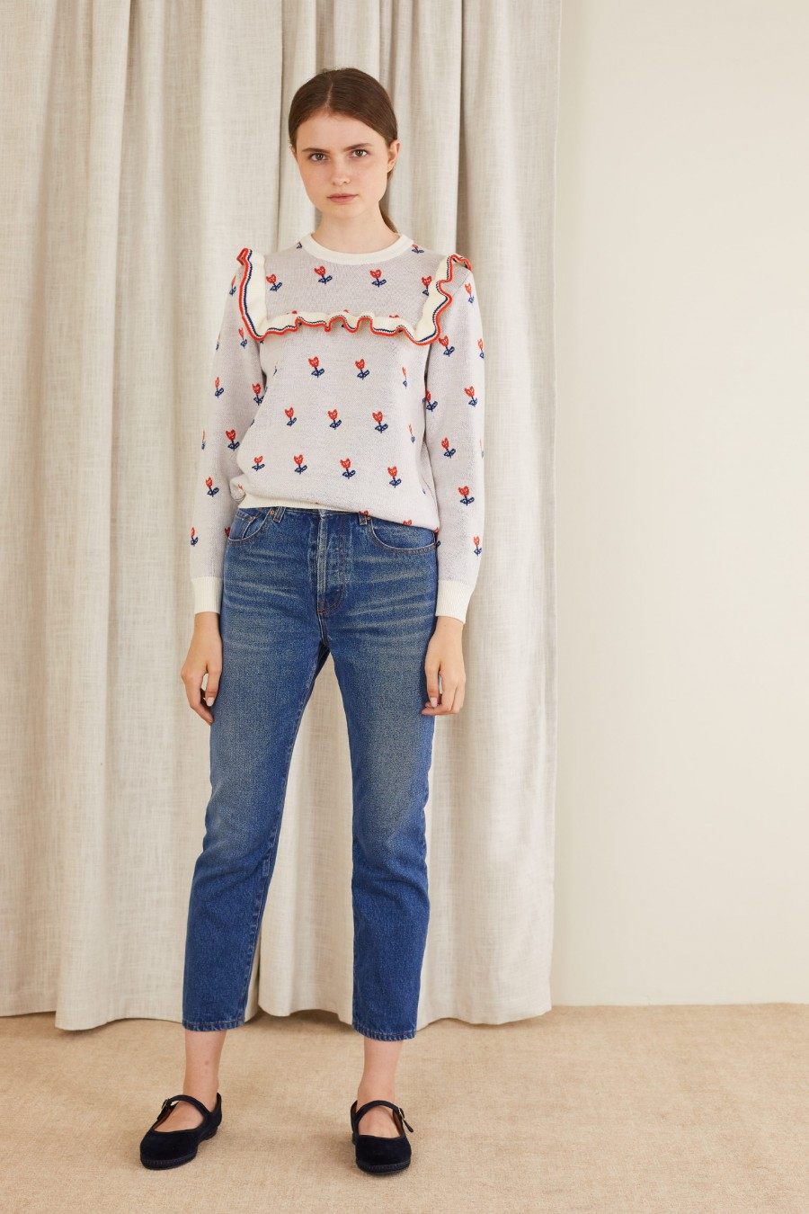 lovely jumper with flowers