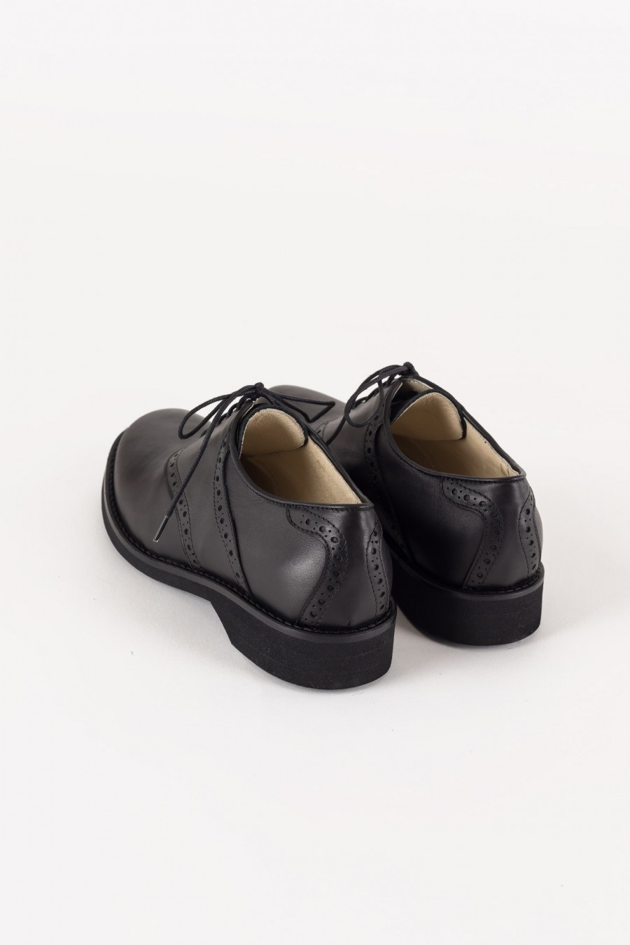 Black shoes with rubber sole
