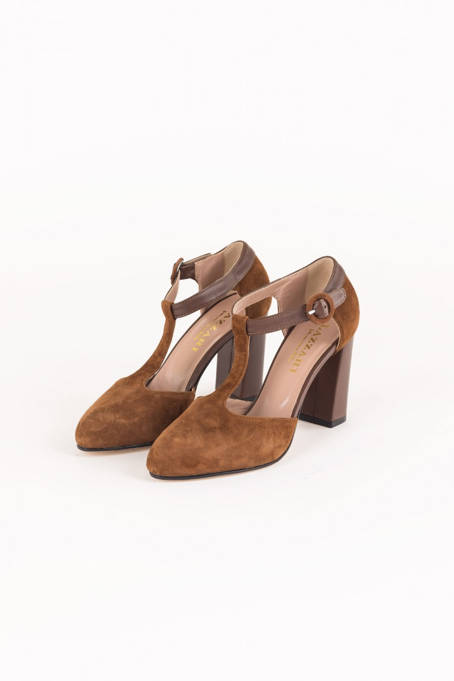 T-strap shoes with heels