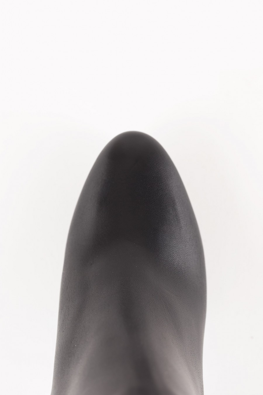 Black boots with side zip