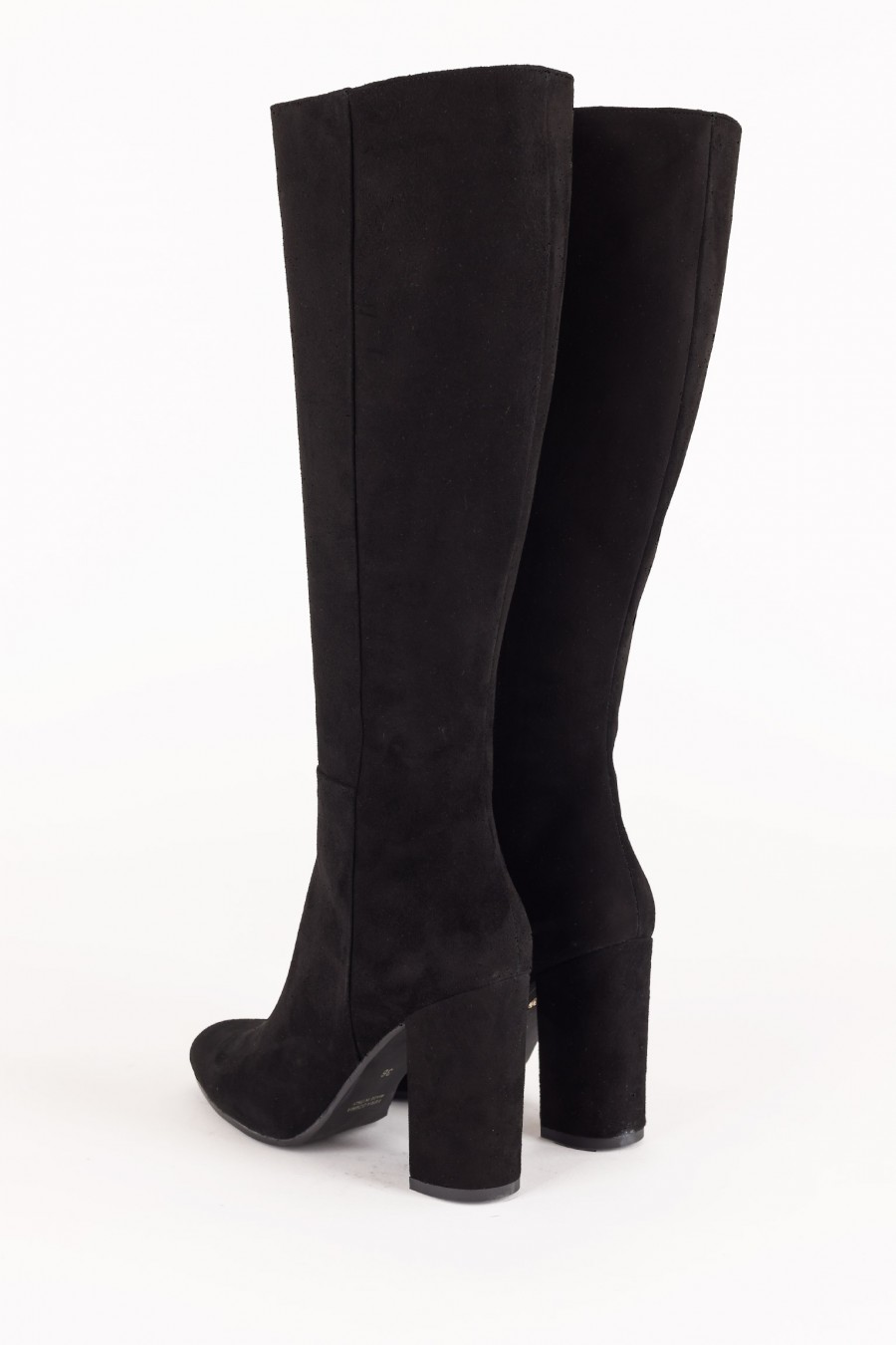 Boots with round heels