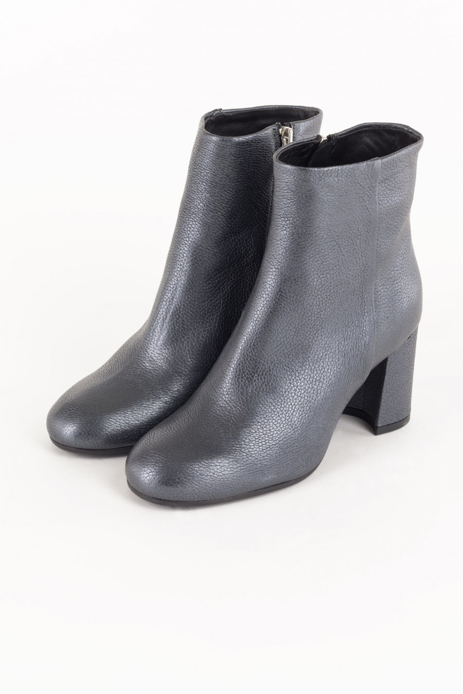 Grey boots with zip
