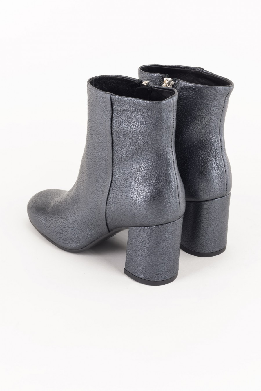 Grey boots with zipper