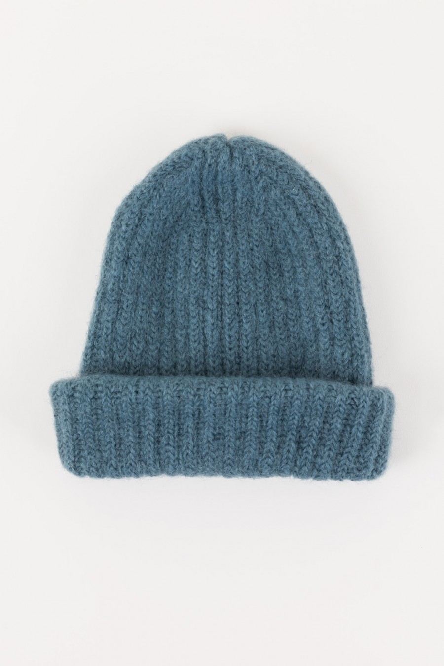 Blue hat with cuff