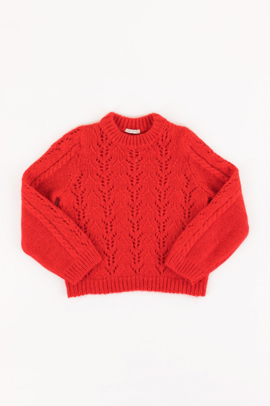 Red jumper in mohair
