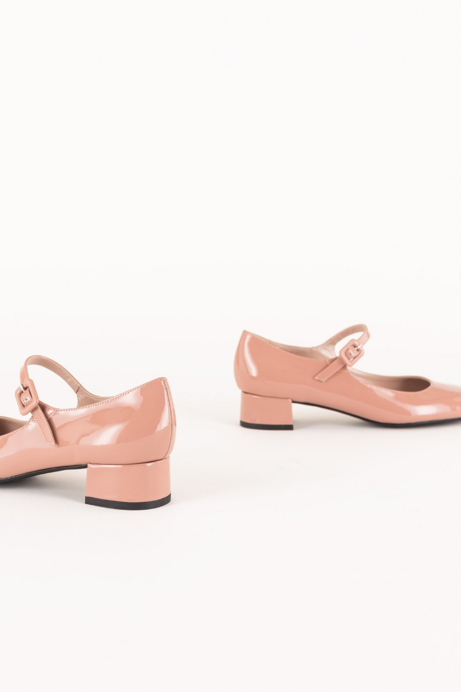 Pale pink patent Mary Jane