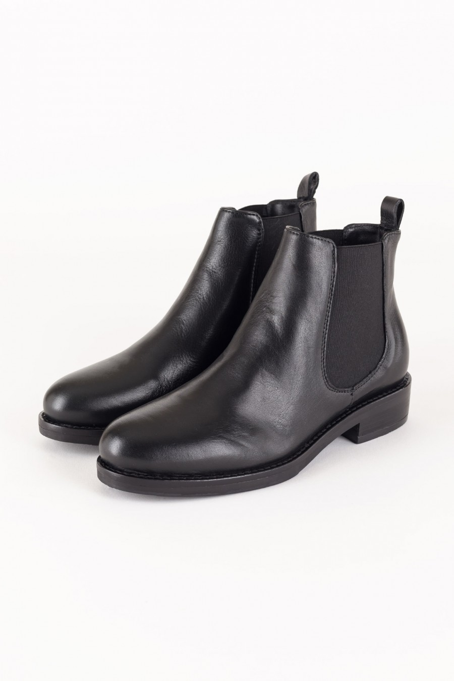 Leather beatles boots