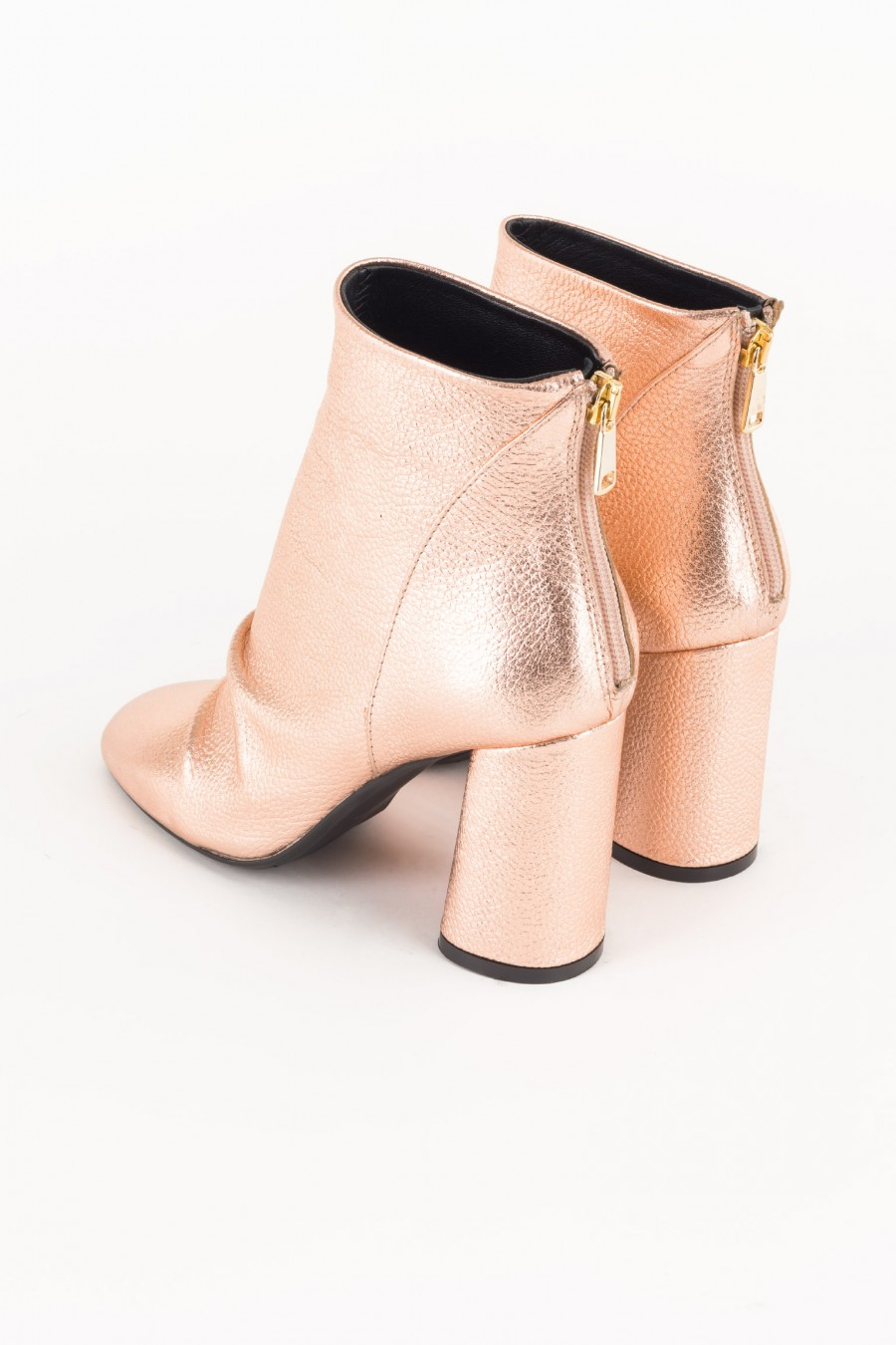 Rosegold leather boots