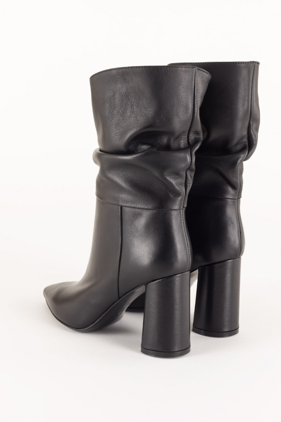 Slouch boots high heels