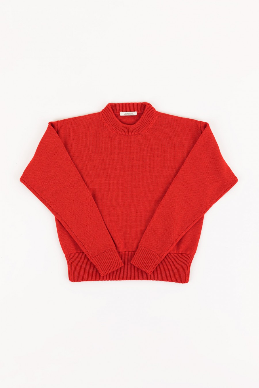 Red cropped sweater