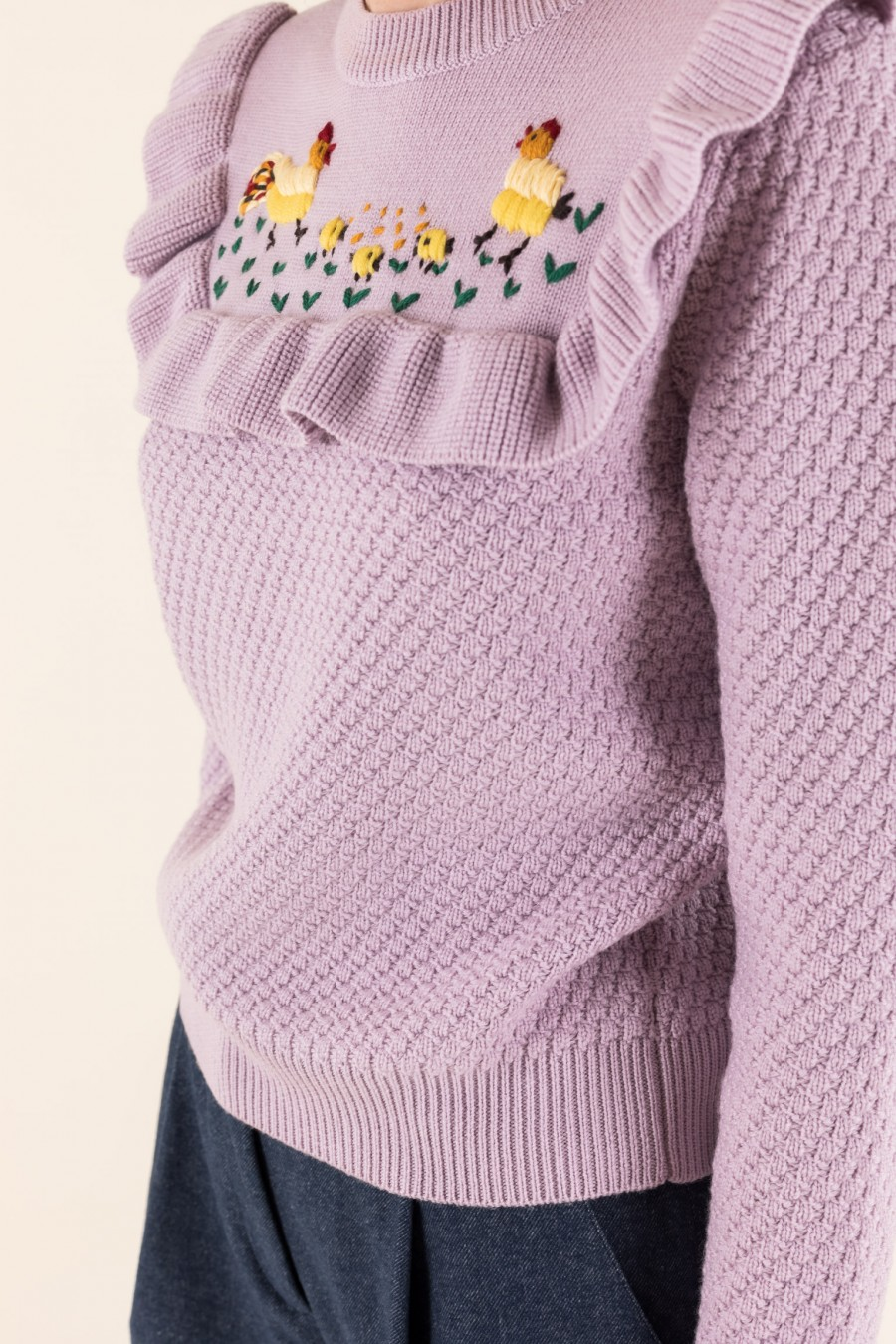 Wool lilac jumper