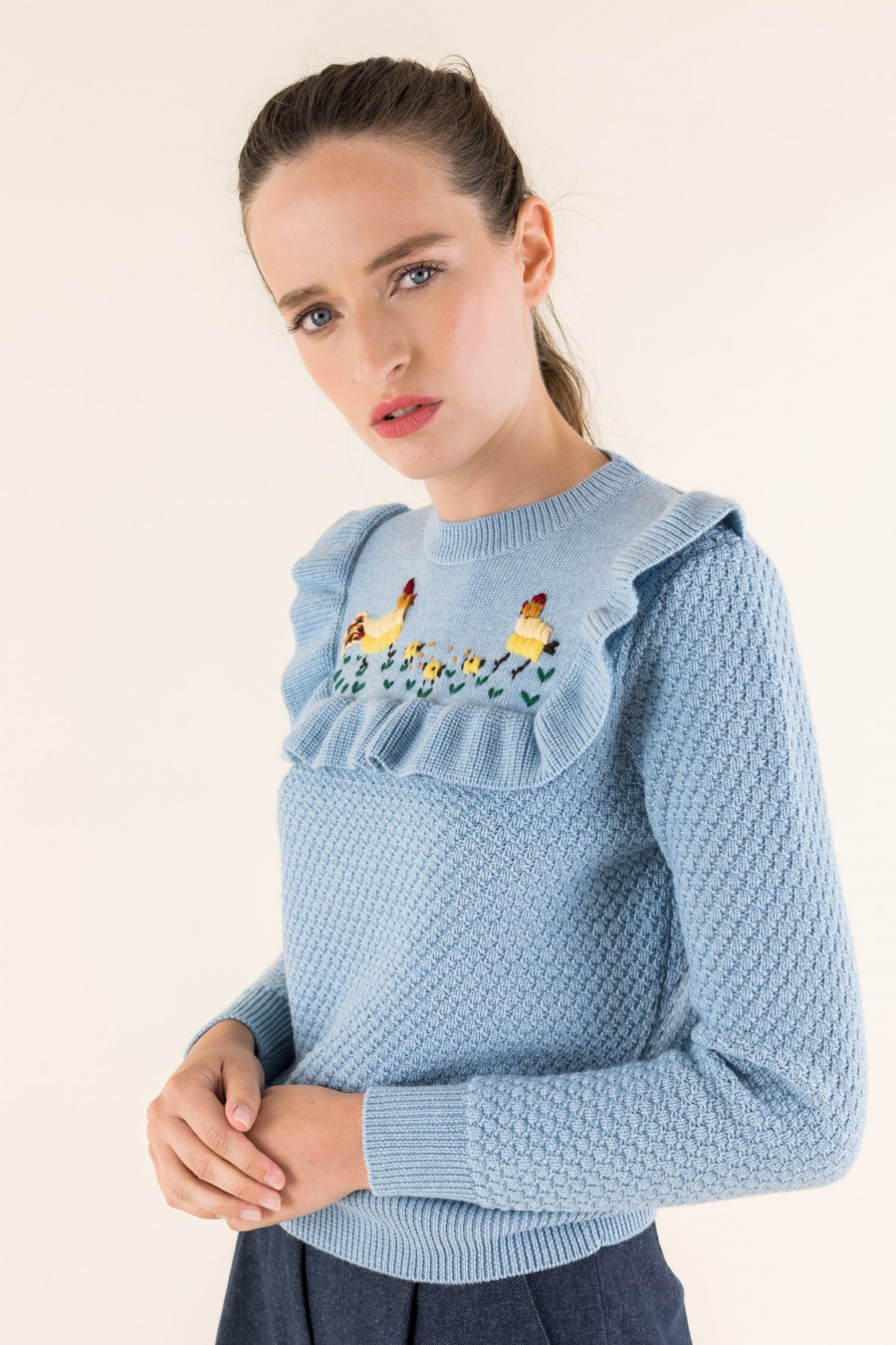 Wool sky blue jumper
