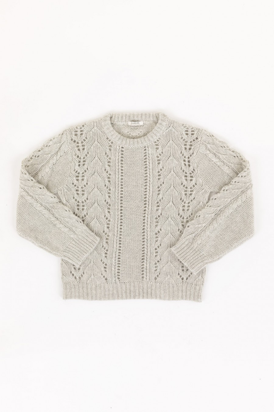 Openwork grey jumper