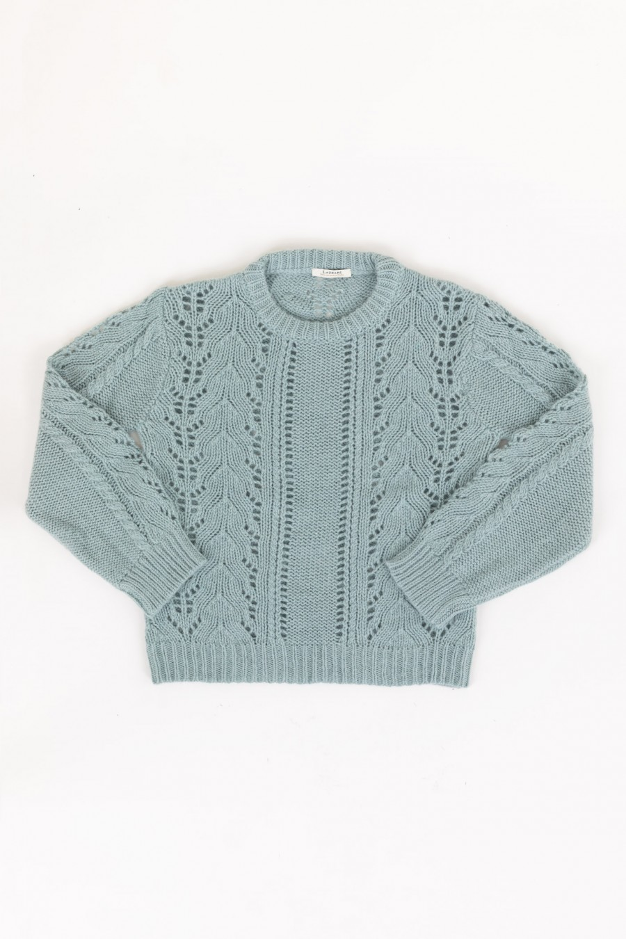 Openwork blue jumper