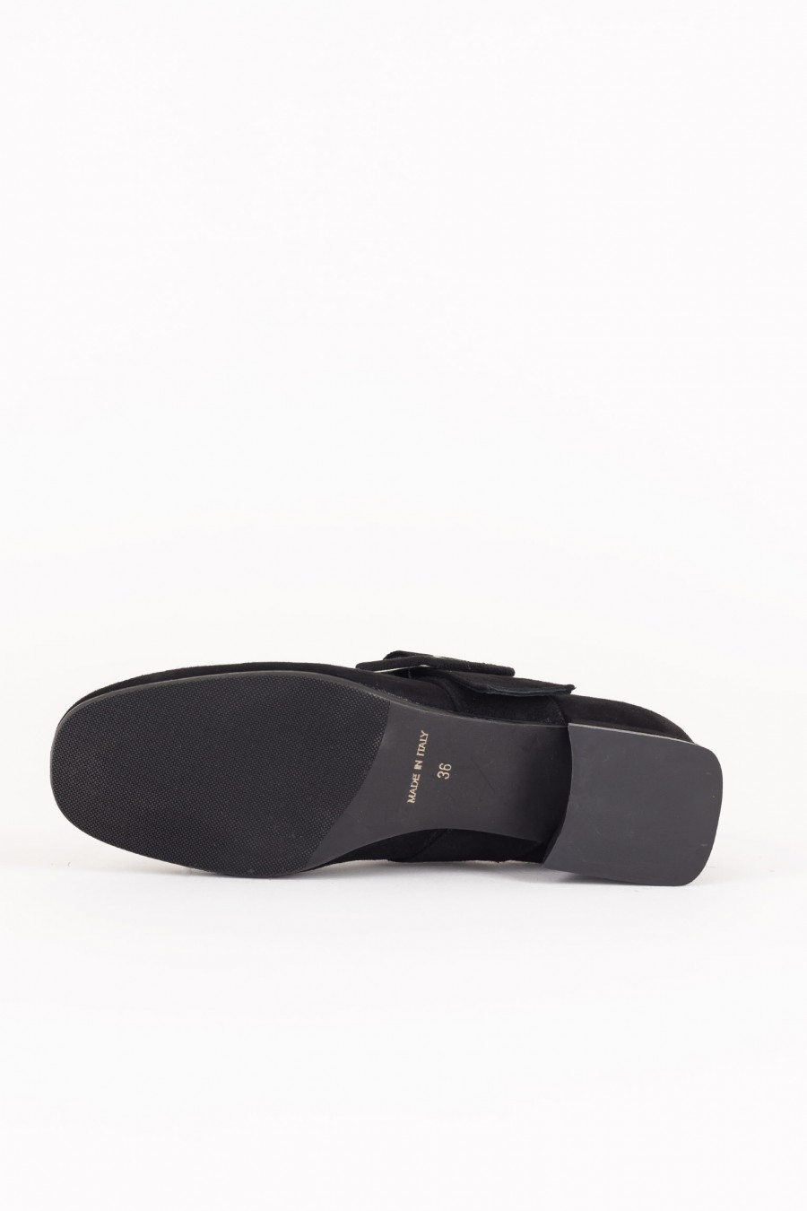 Black suede Mary Jane shoes