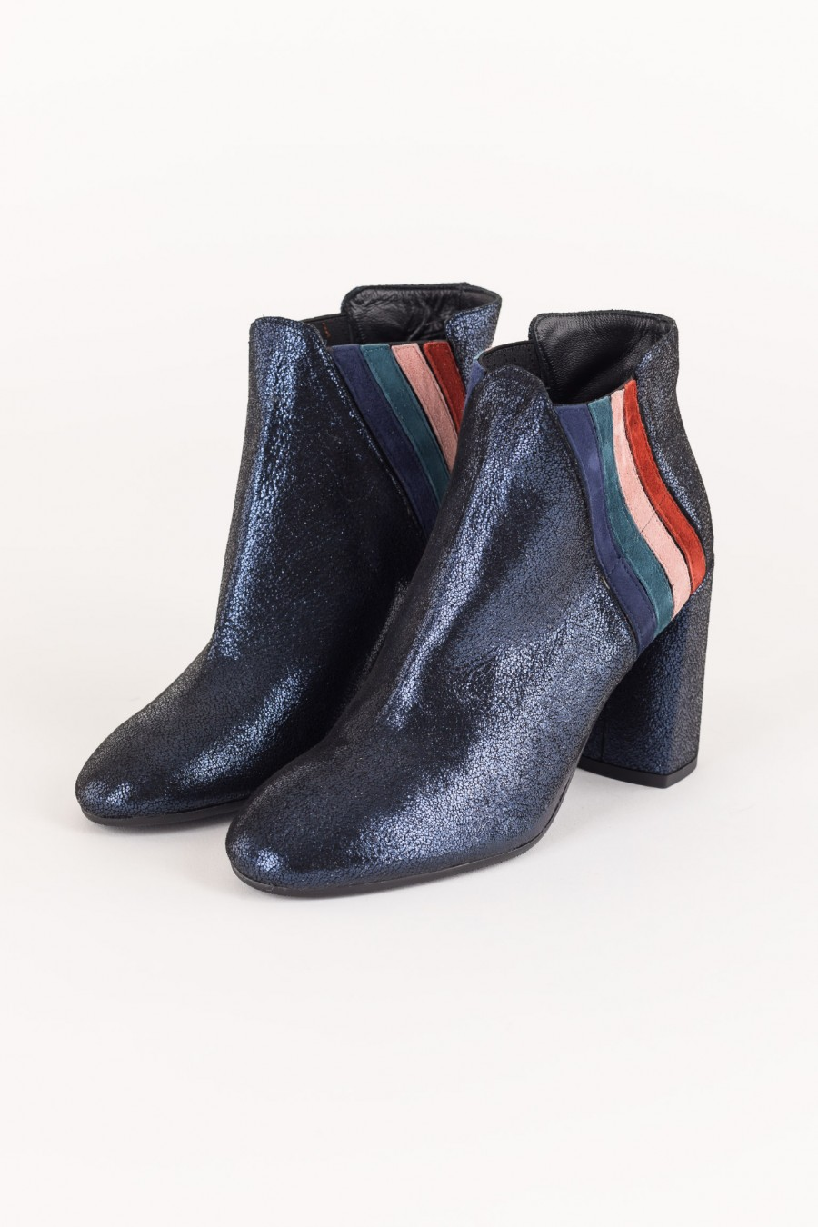 Rainbow ankle boots