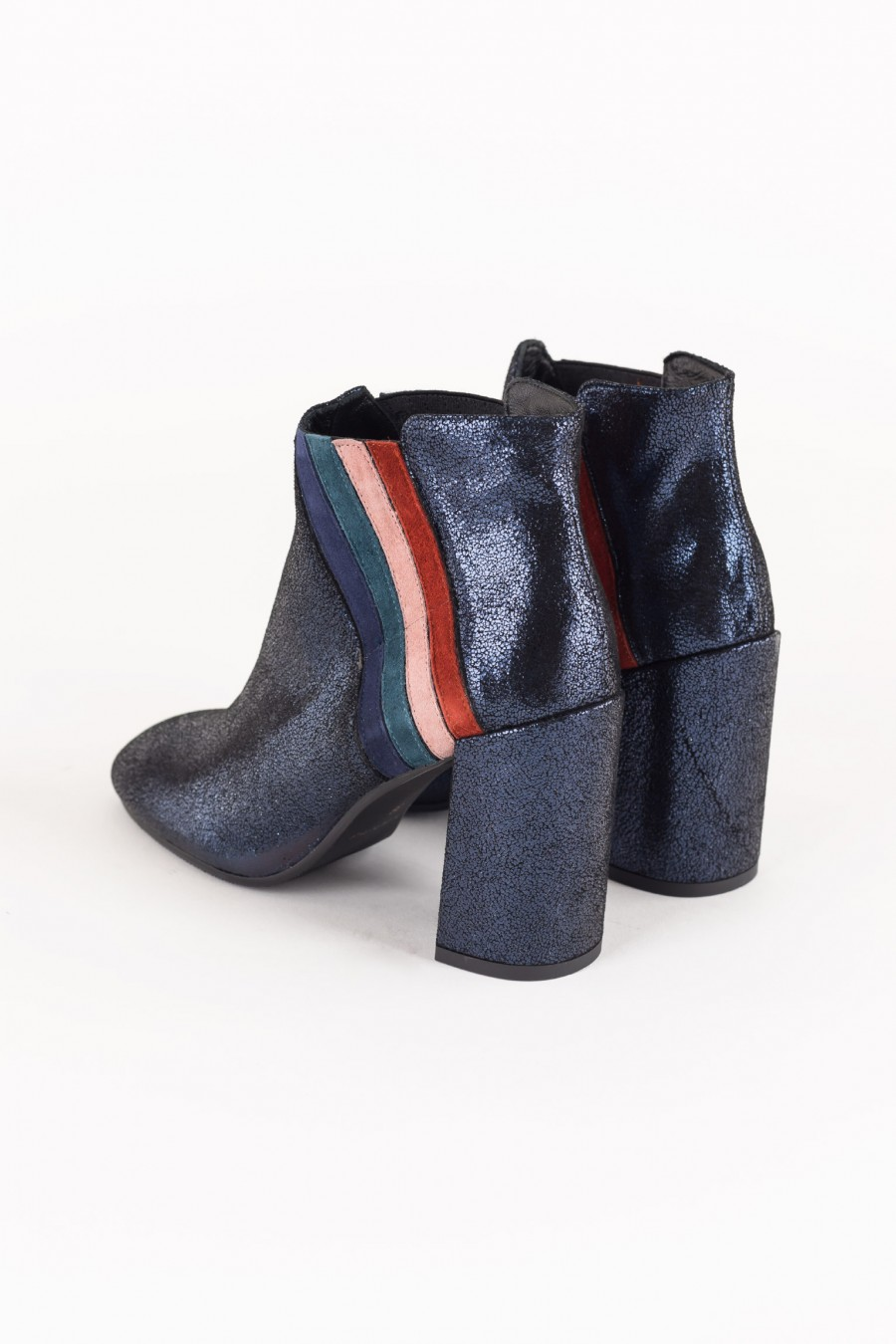 Rainbow suede ankle boots