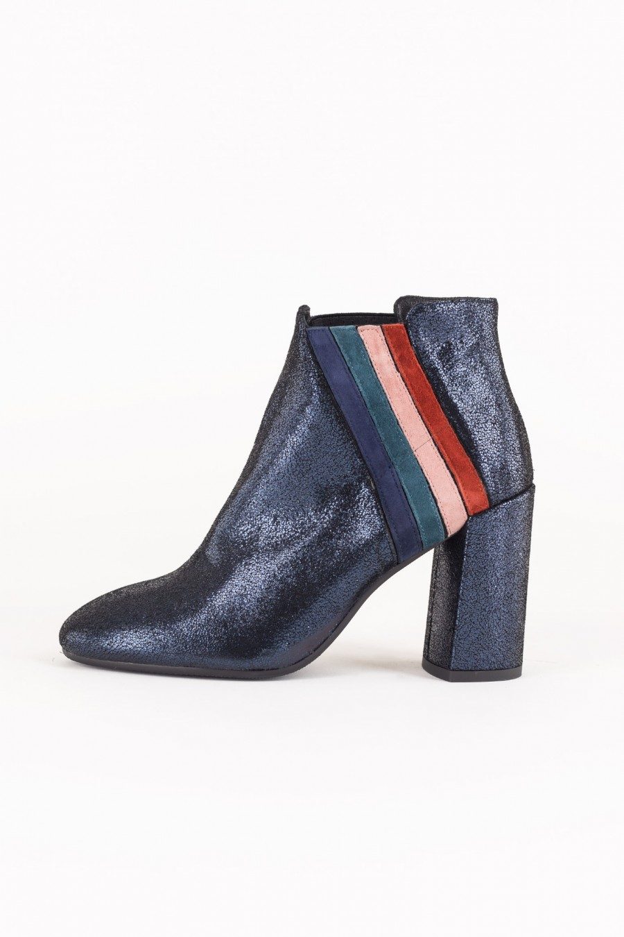 Colorful suede ankle boots