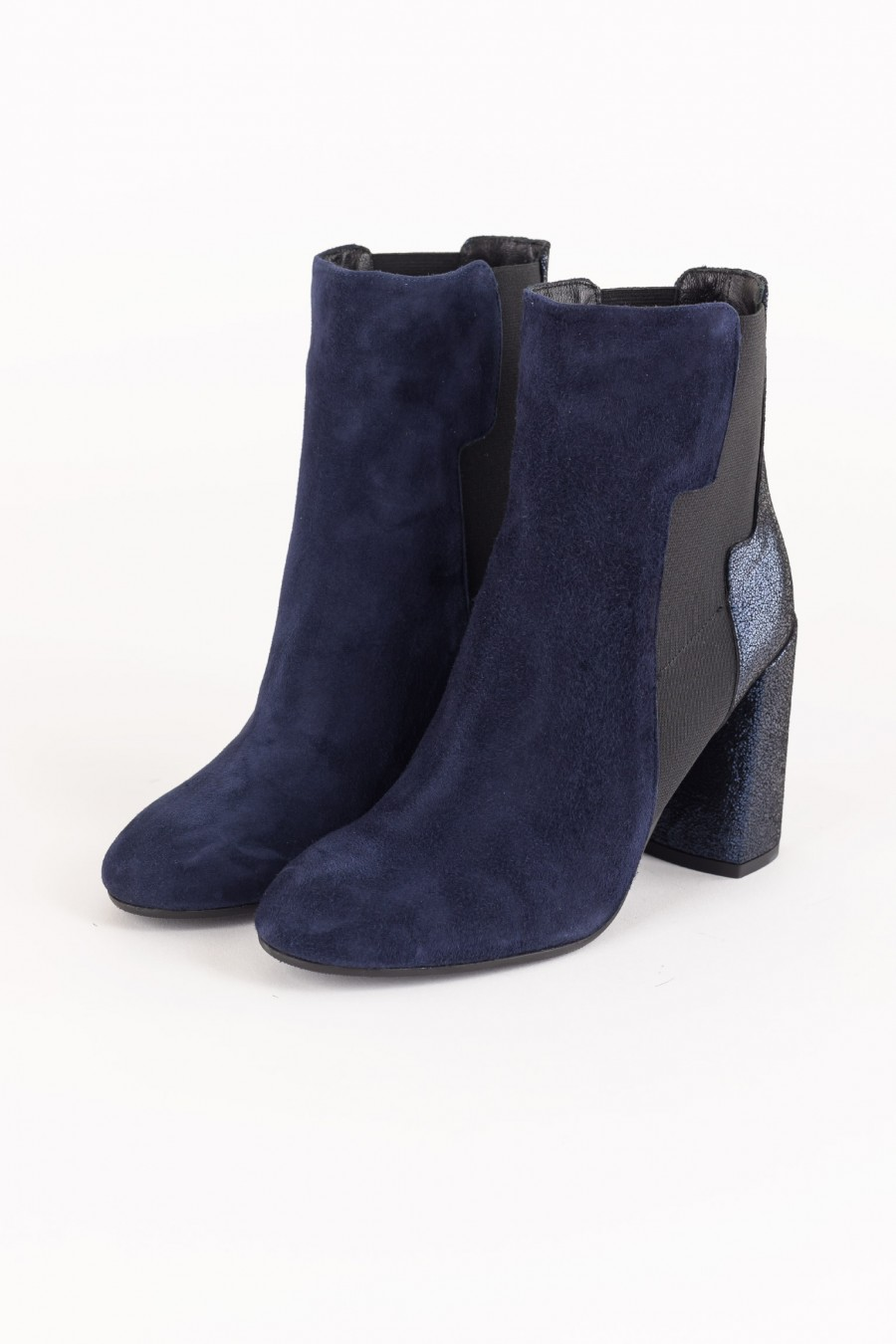 Blue flash ankle boots
