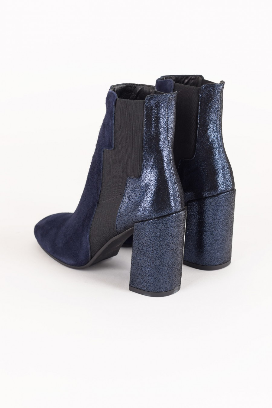 Blue galaxy ankle boots