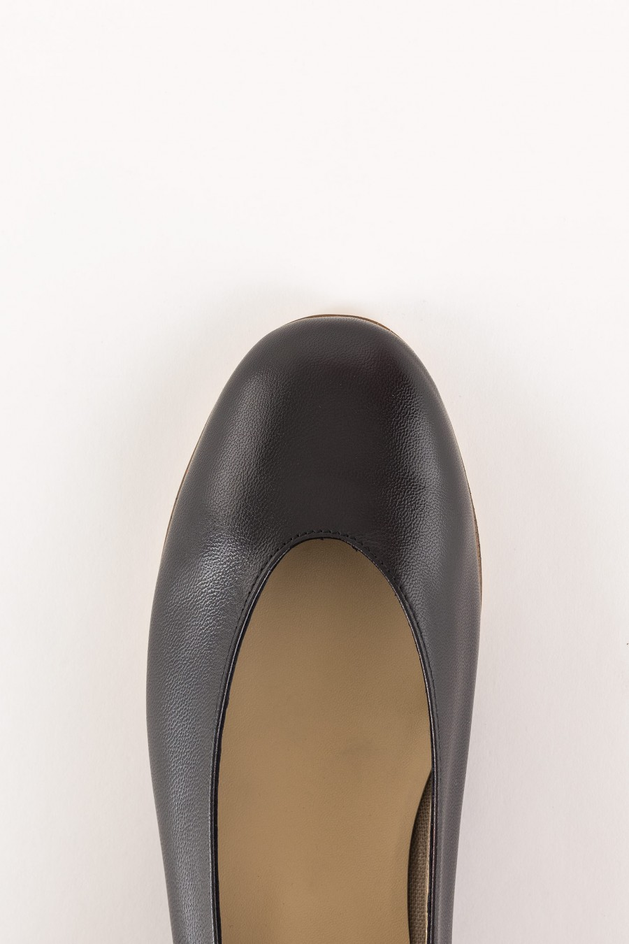 black rounded shoes