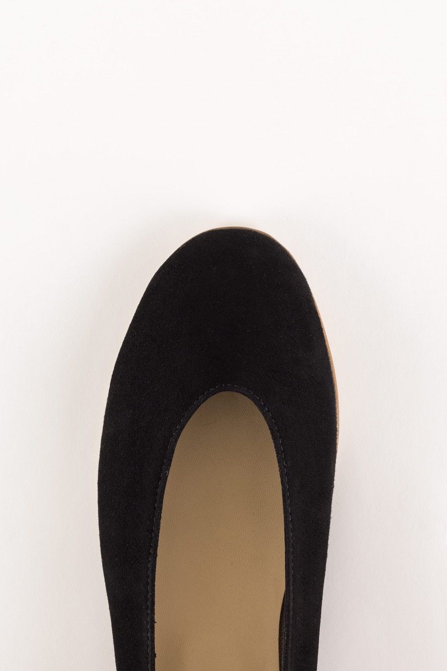 black suede rounded shoes