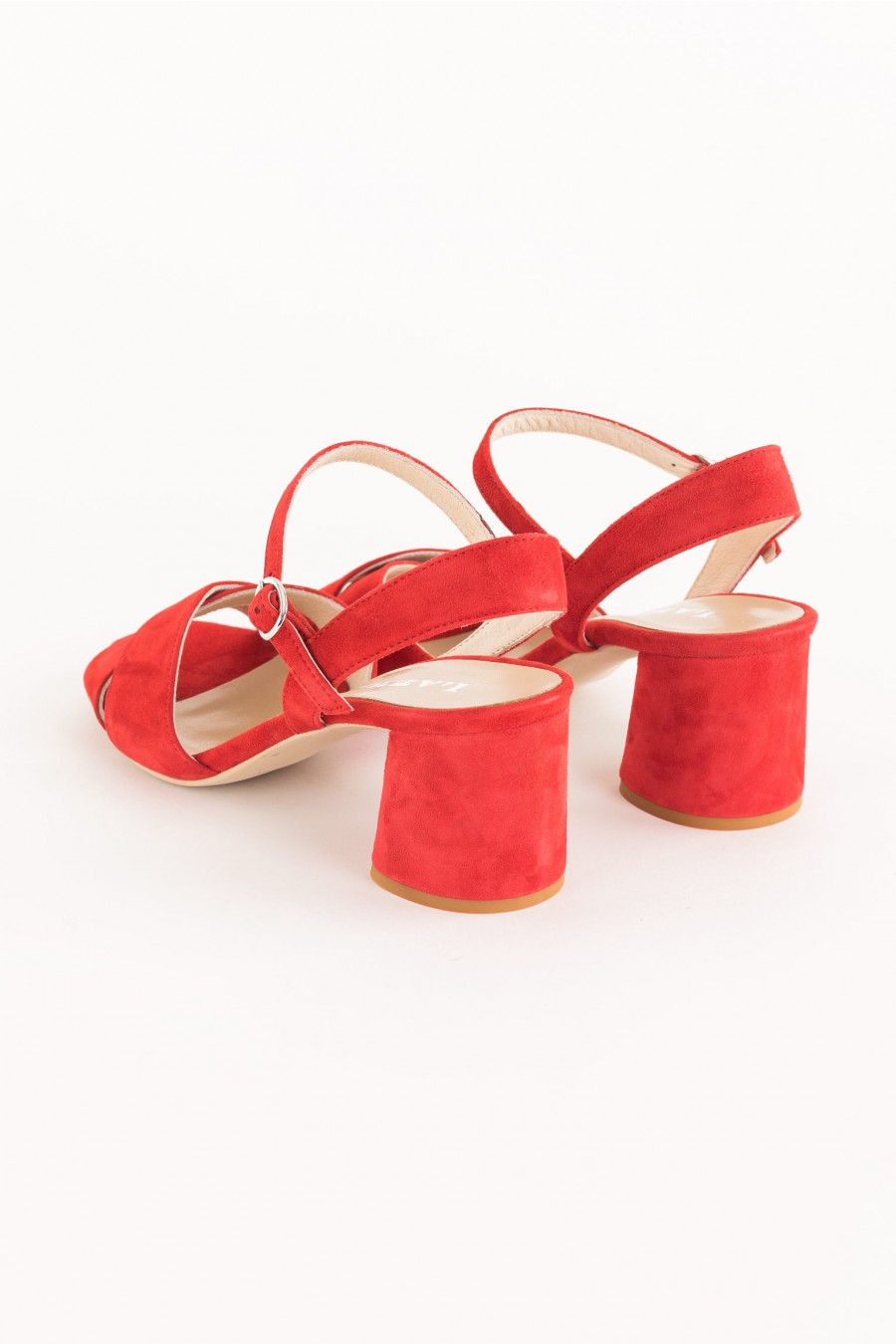 red sandal with crossed band