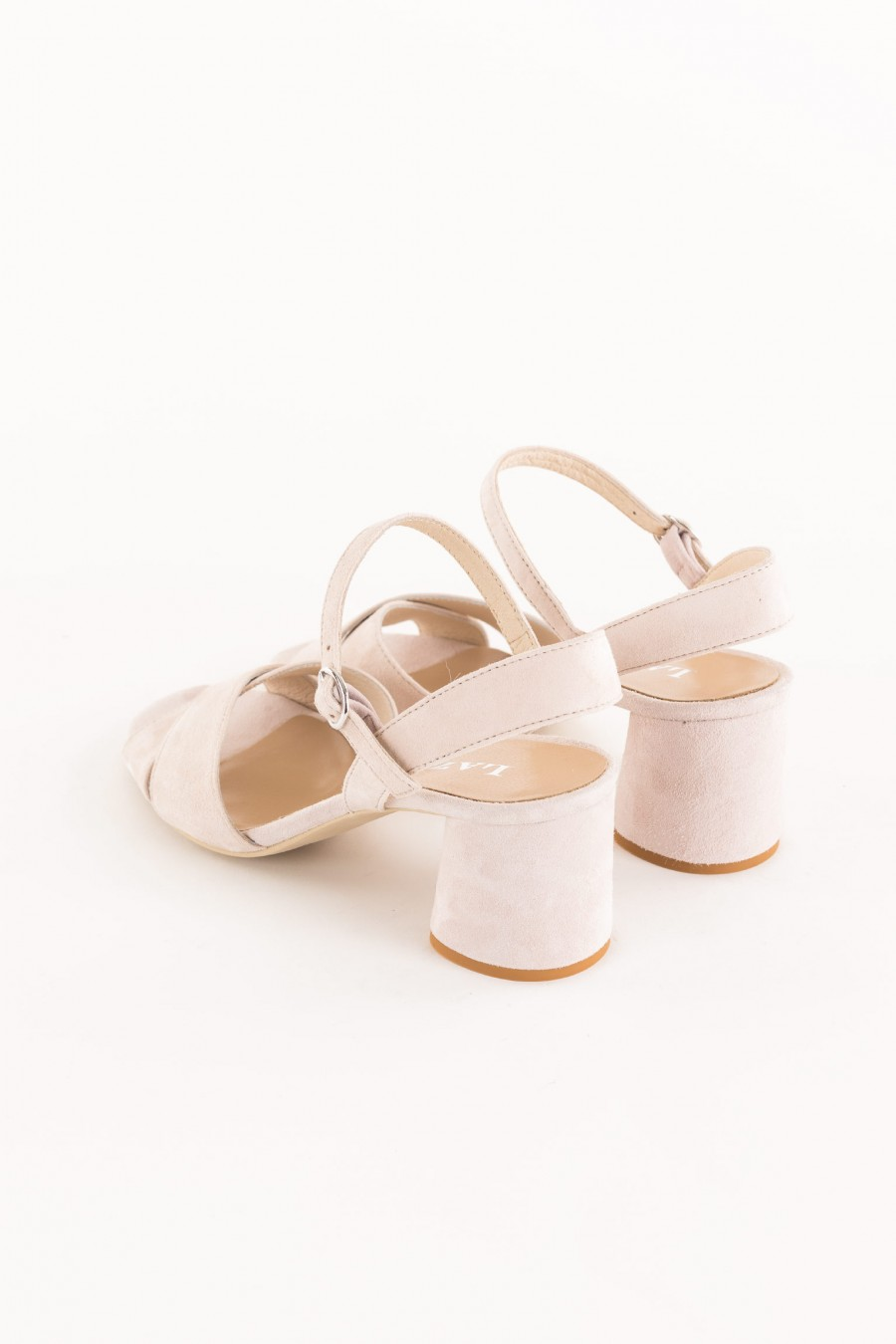 nude sandal with band