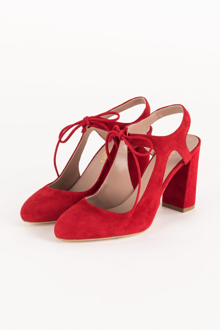 red shoe with heel