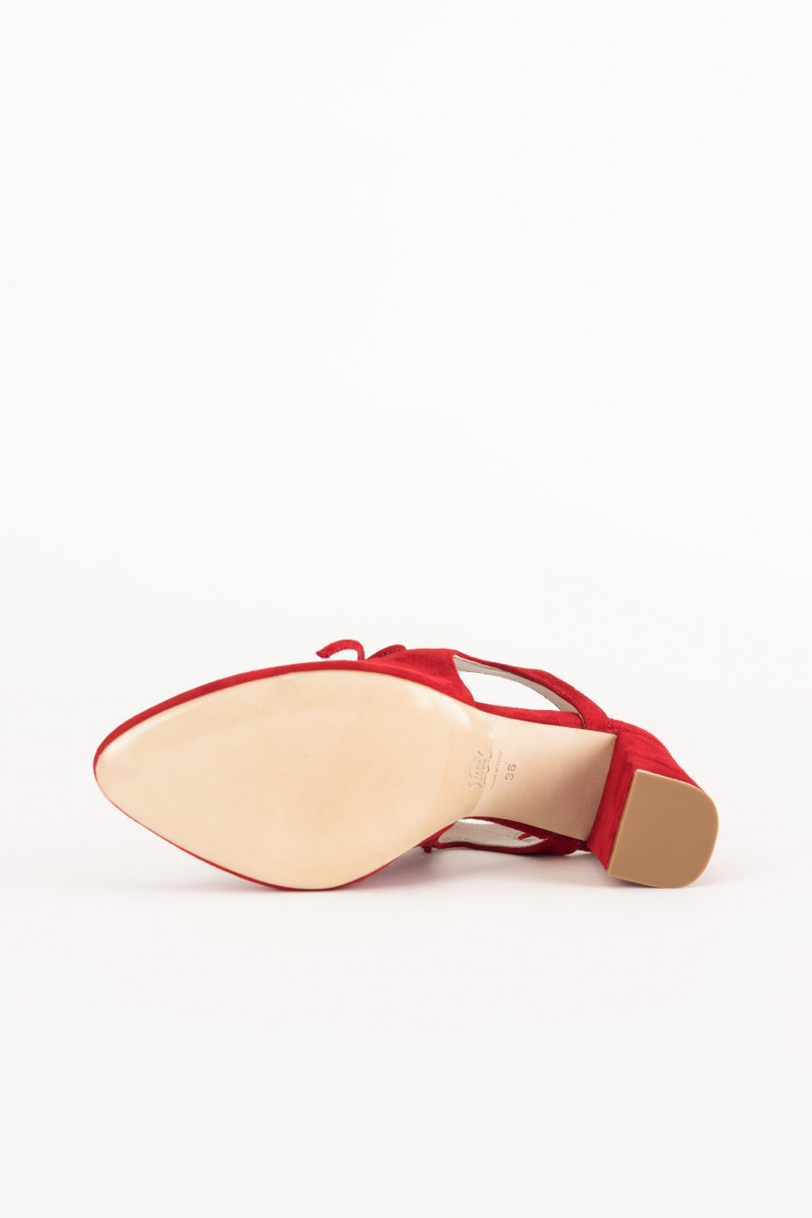 red shoe with laces