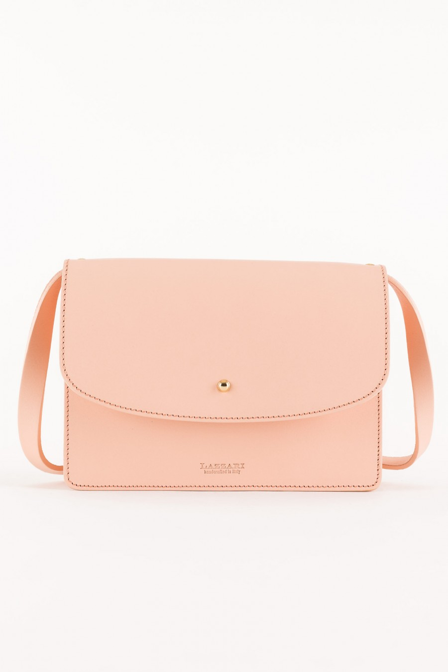 Baby pink leather bag