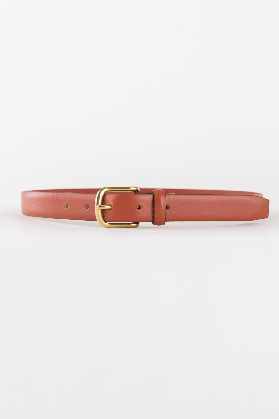 warm brown leather belt