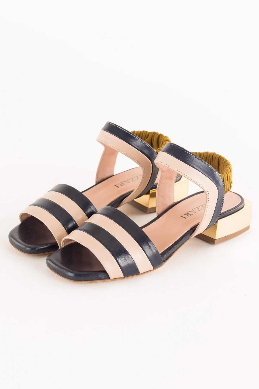 sandal with low square heel