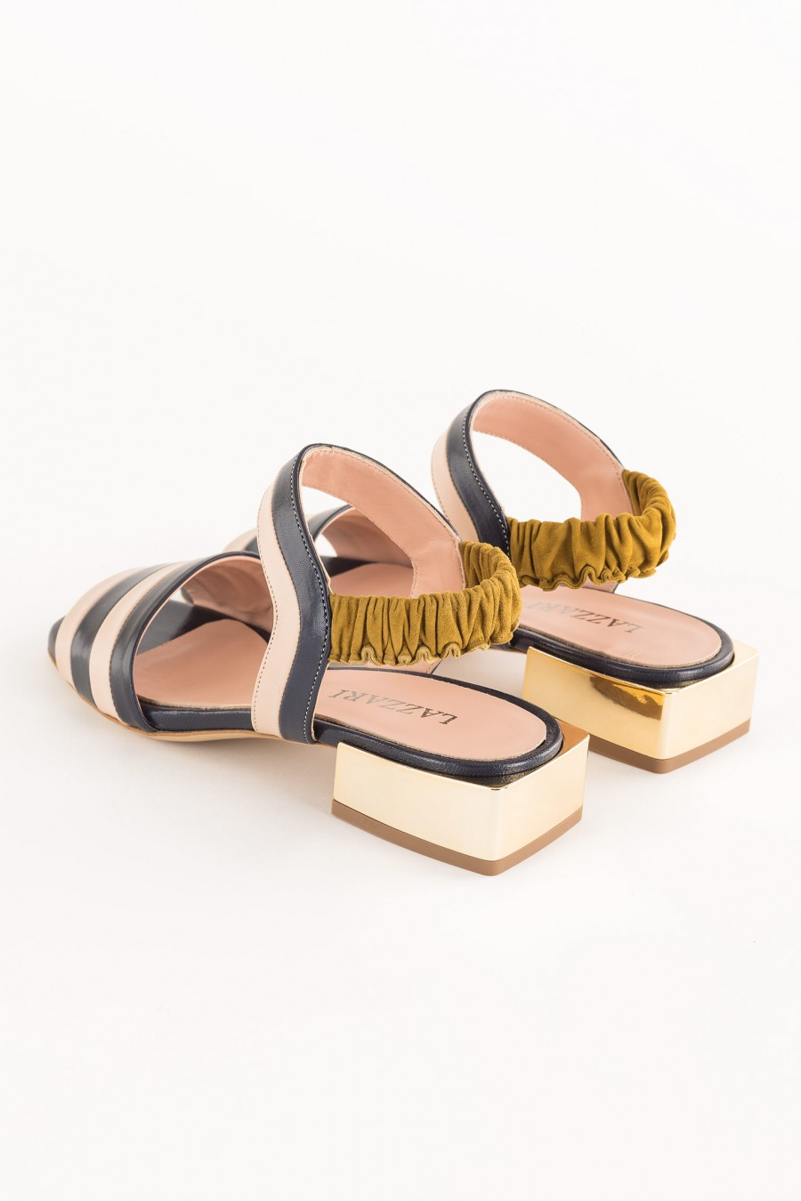 sandal with low heel