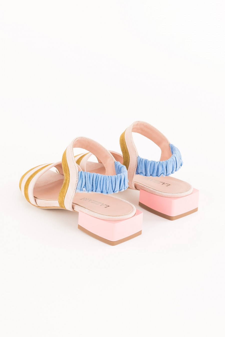 pink sandal with low heel