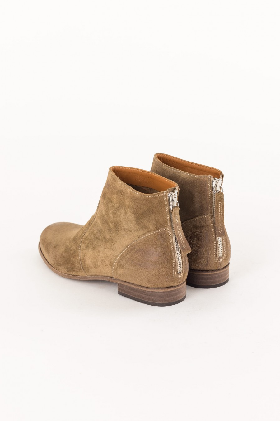 walnut colored ankle boot