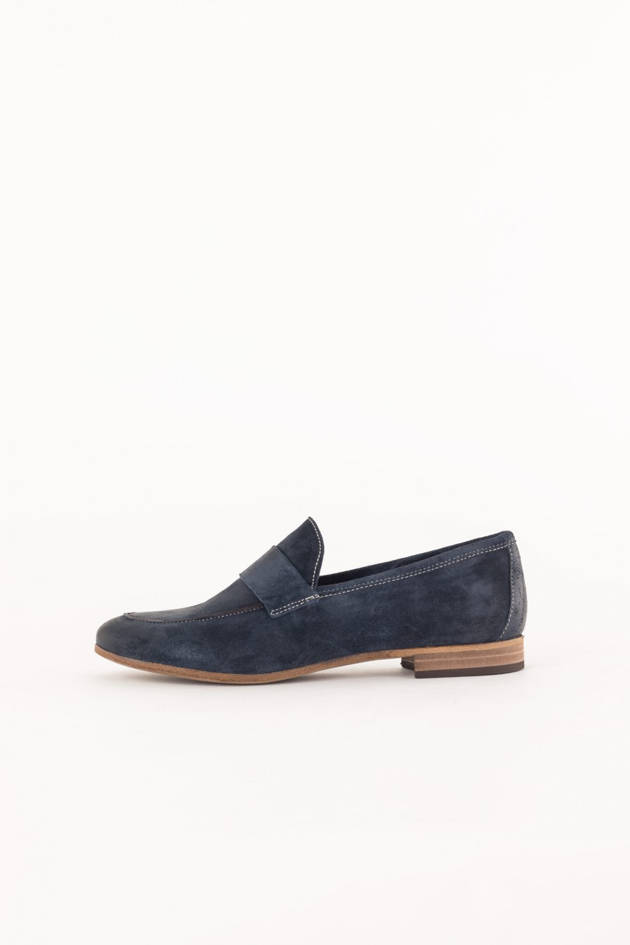 blue loafer with band