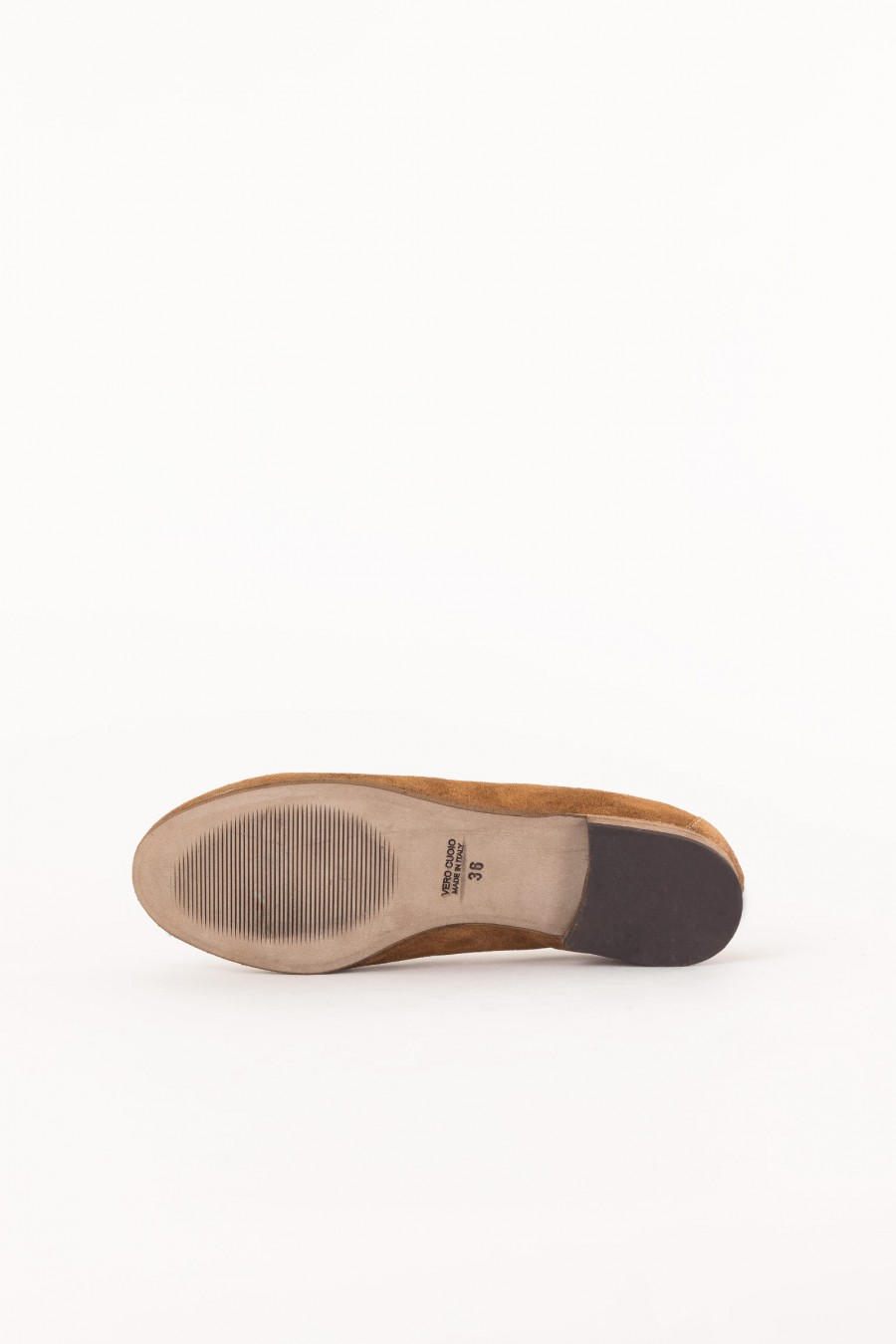 brown suede shoe closed