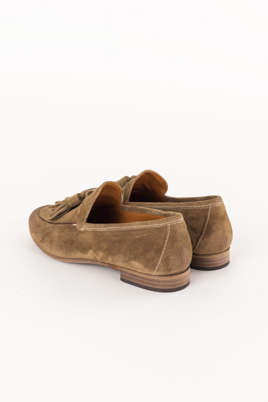 suede brown loafer