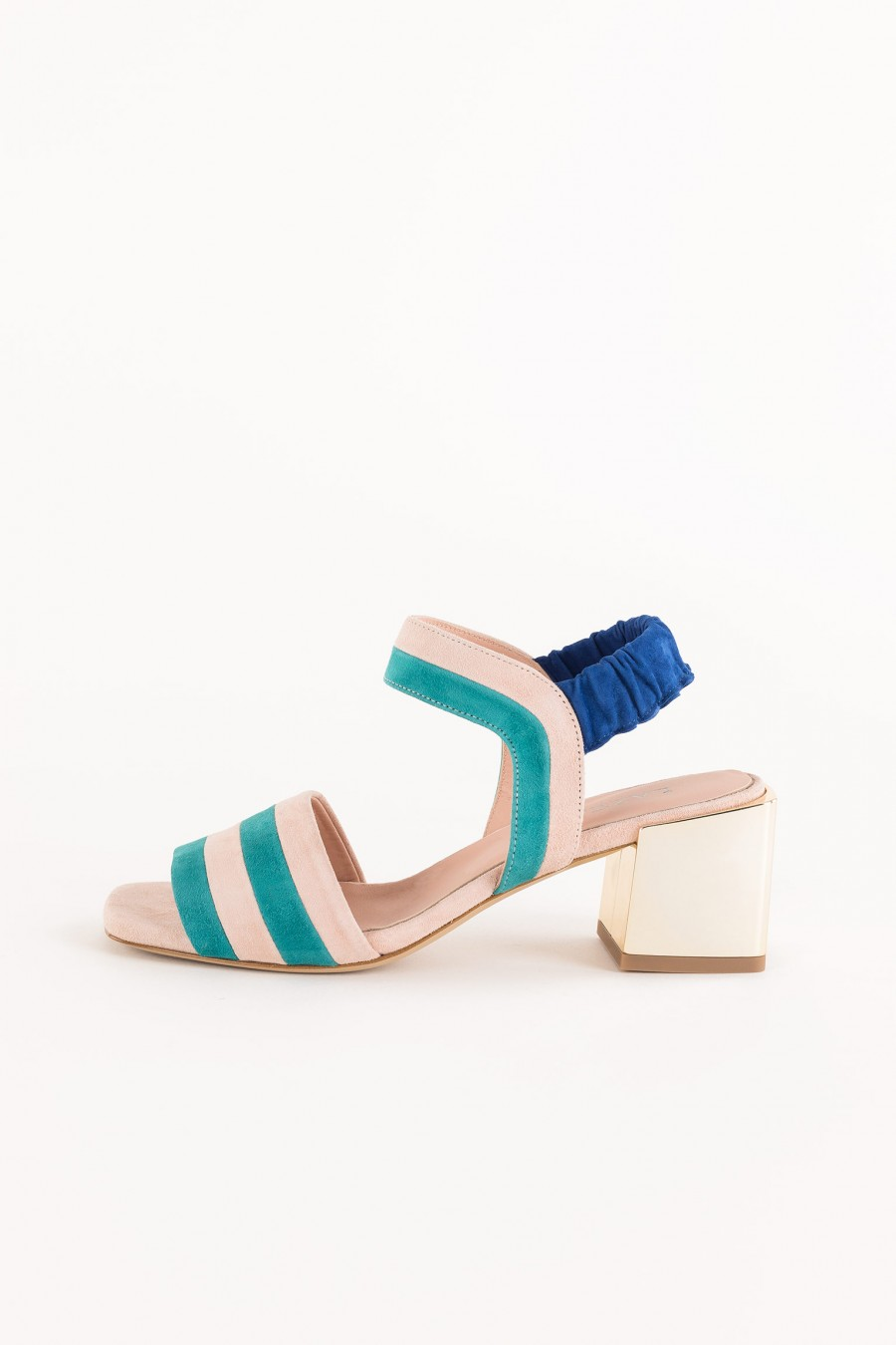 sandal with pink and ivy striped