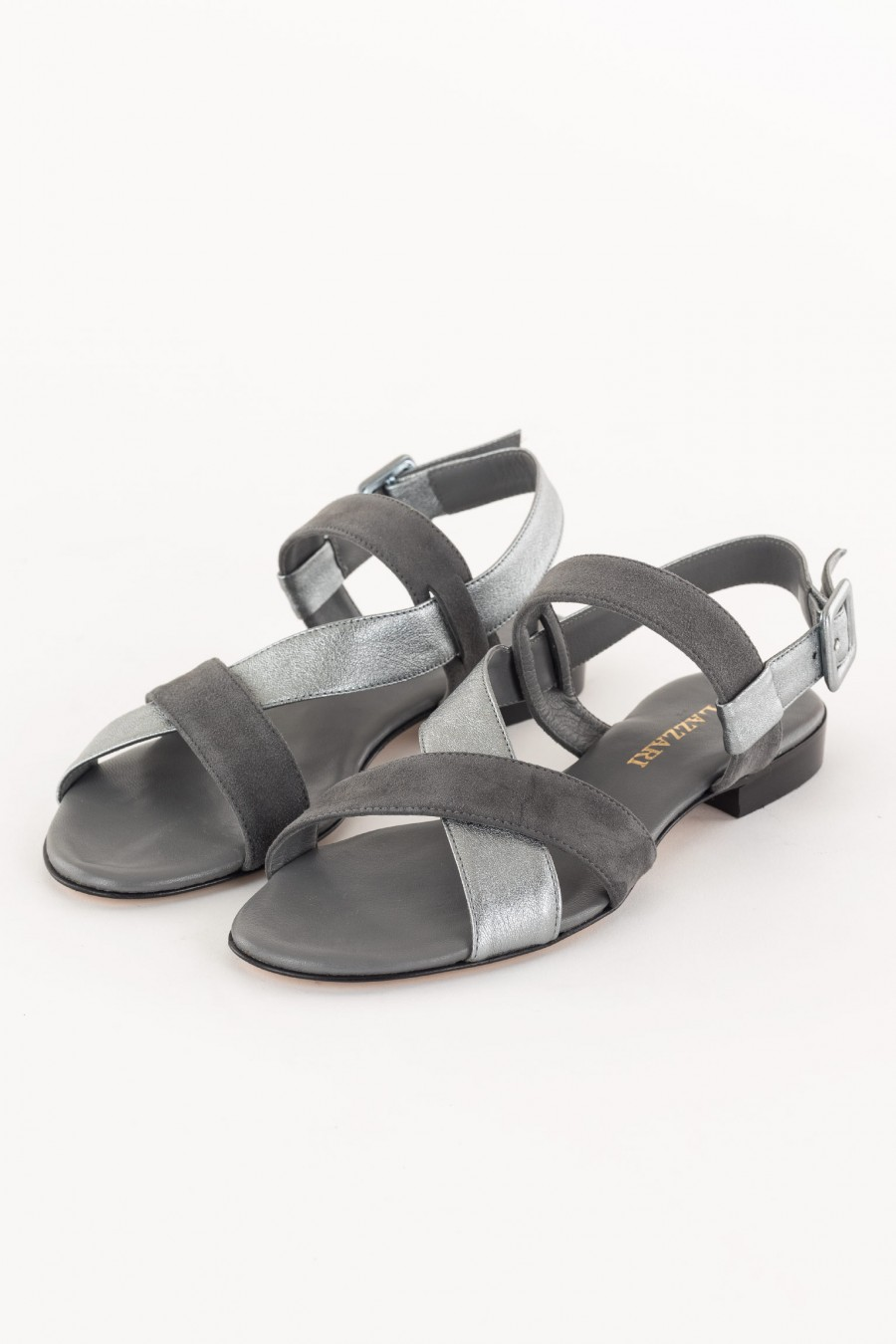 Silver and grey sandal