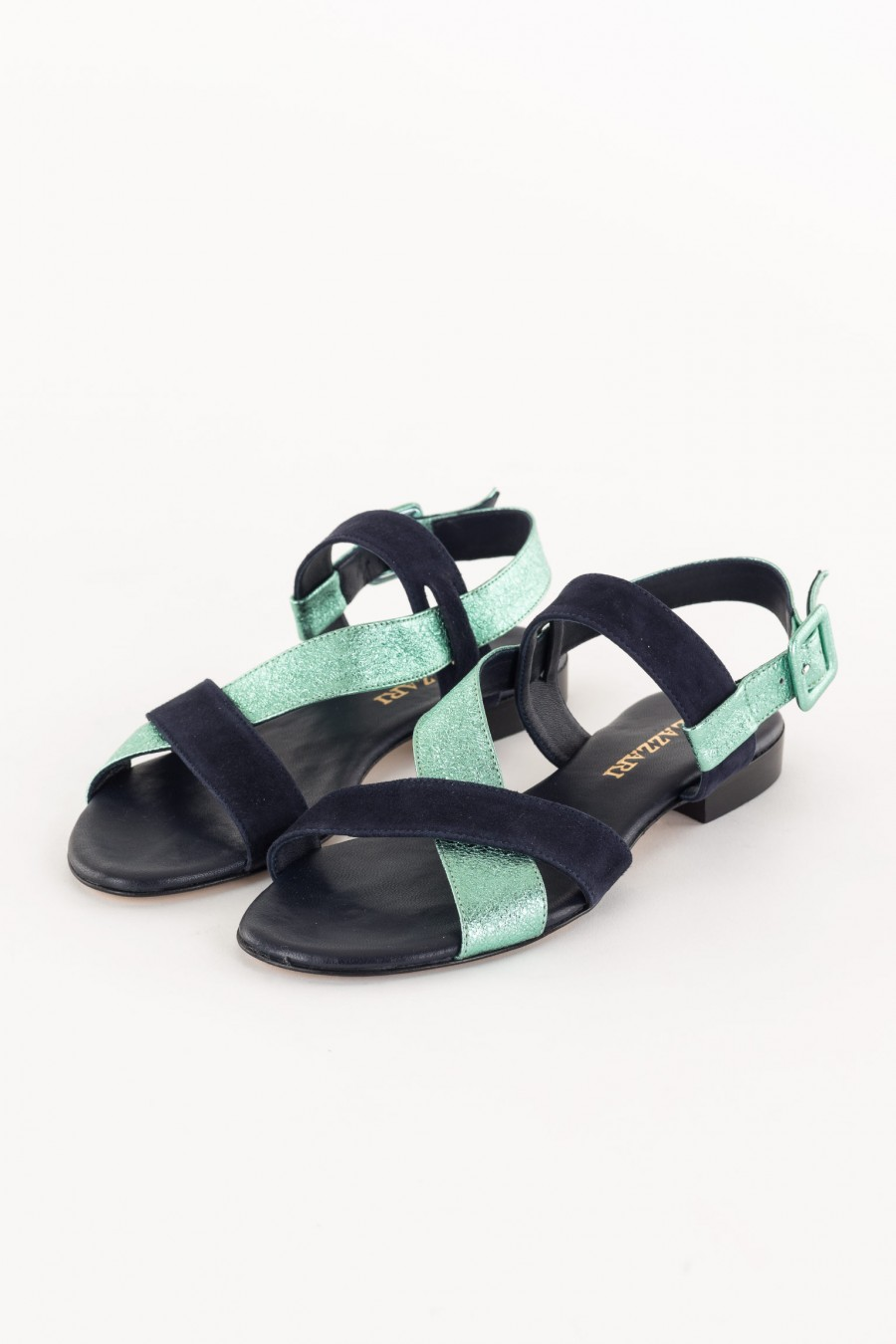 Blue and emerald sandal