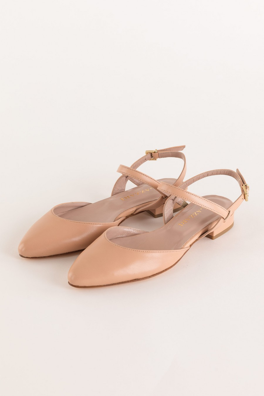pink flat pointed shoe