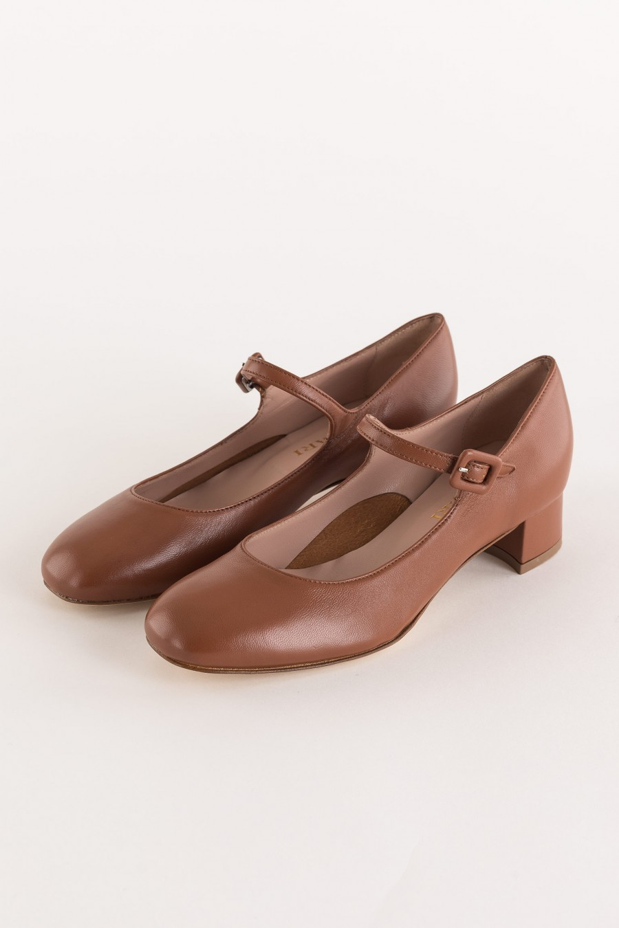 brown mary jane shoe