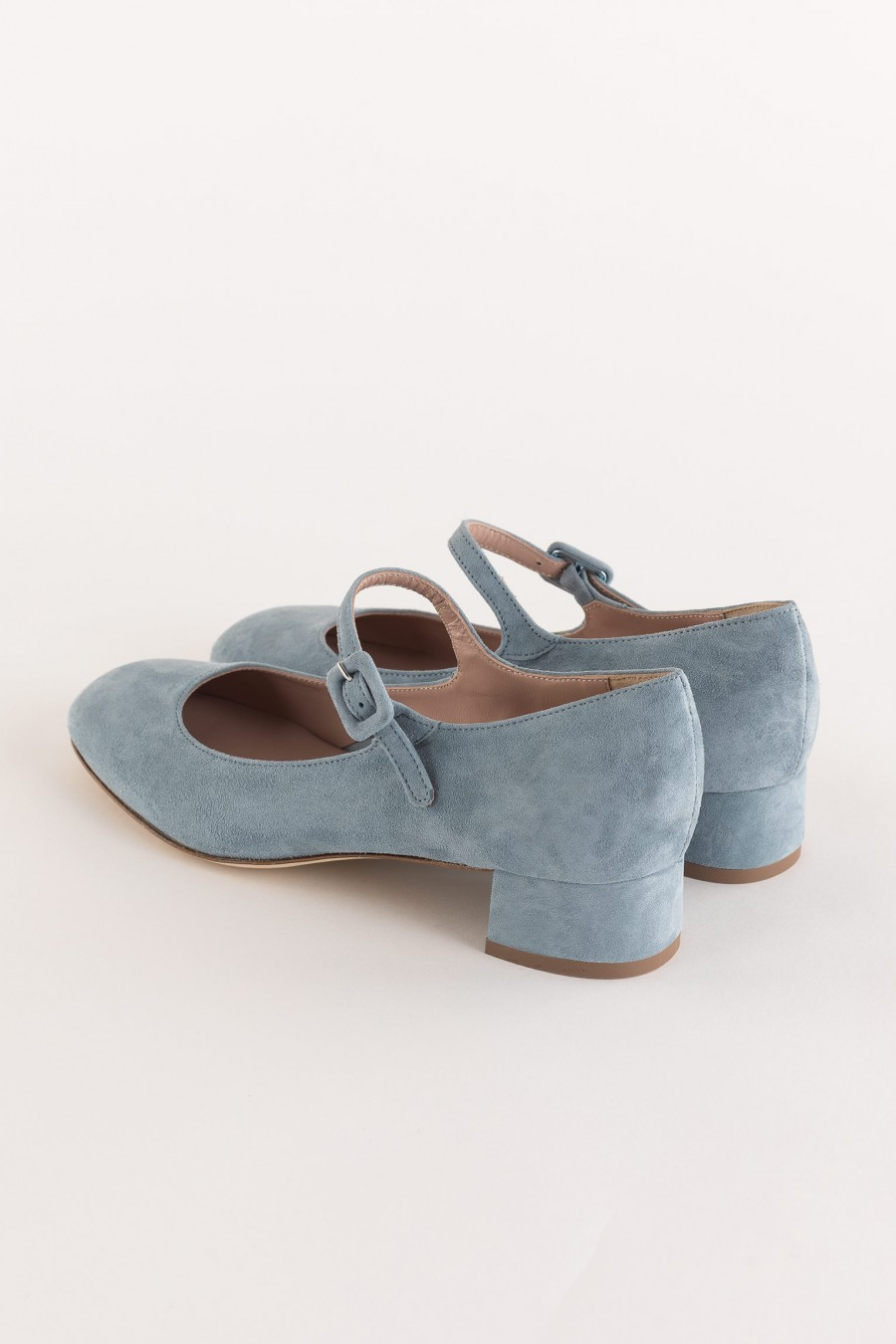 light blue mary jane  with heel and strap