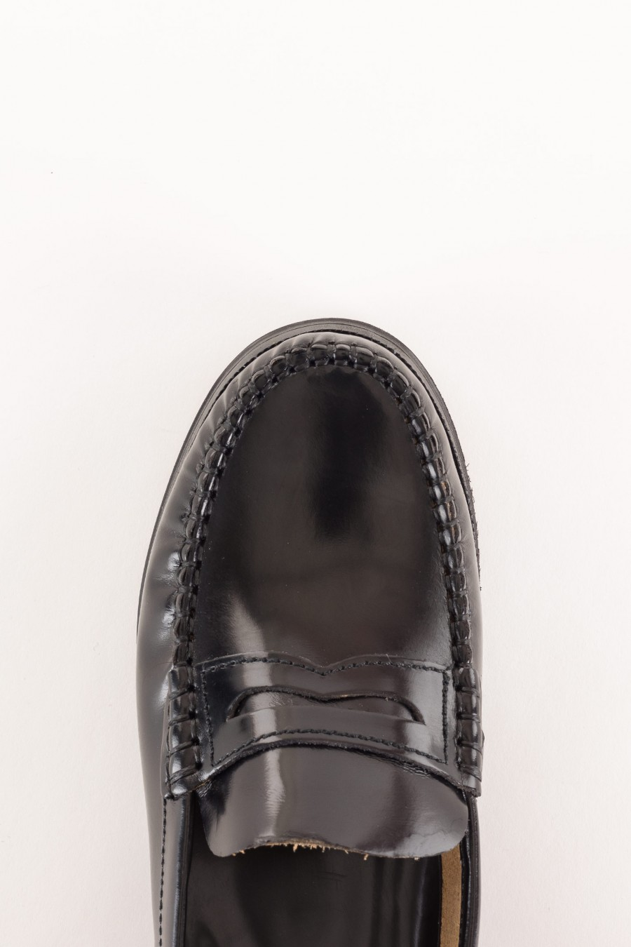 polished leather penny loafer