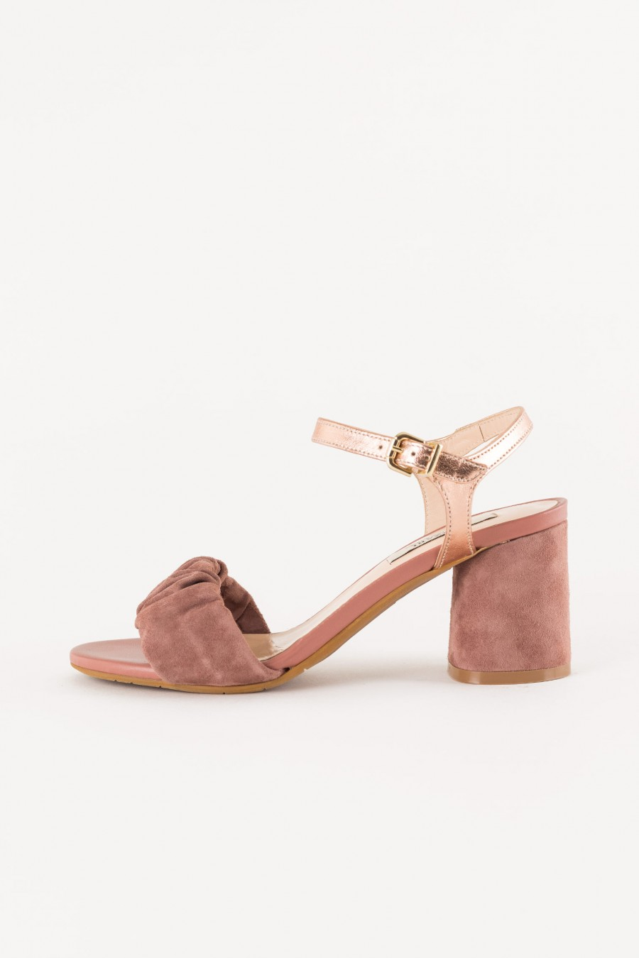 antique pink shoe with band