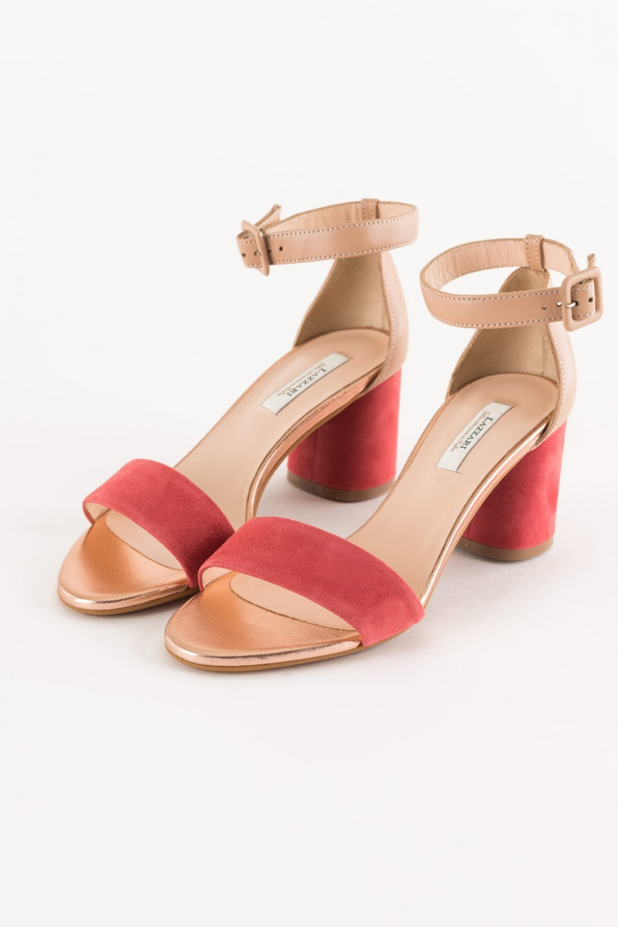 lobster rounded heel sandal